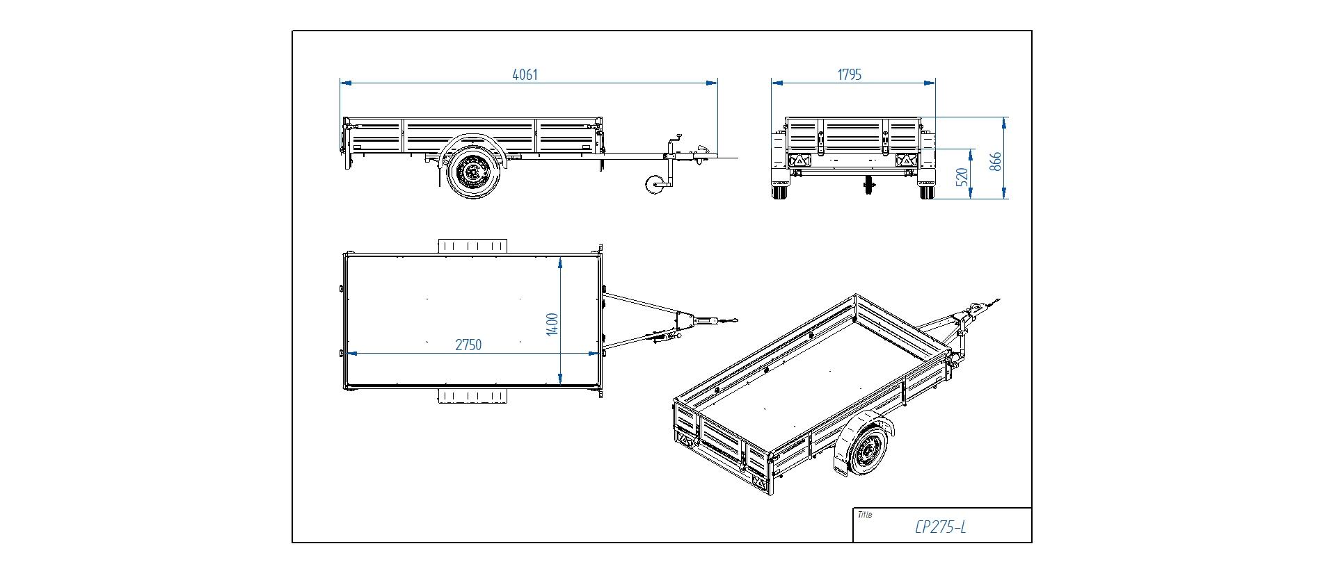 CP275-L  [Priekabų standartinė įranga gali skirtis nuo pavaizduotos komplektacijos paveiksliuke]