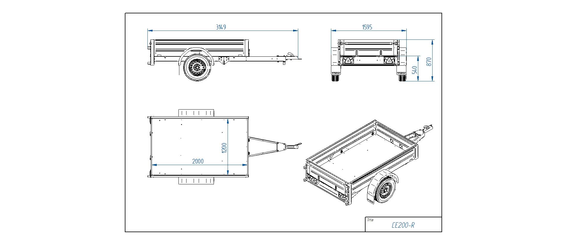 CE200-R [Priekabų standartinė įranga gali skirtis nuo pavaizduotos komplektacijos paveiksliuke]