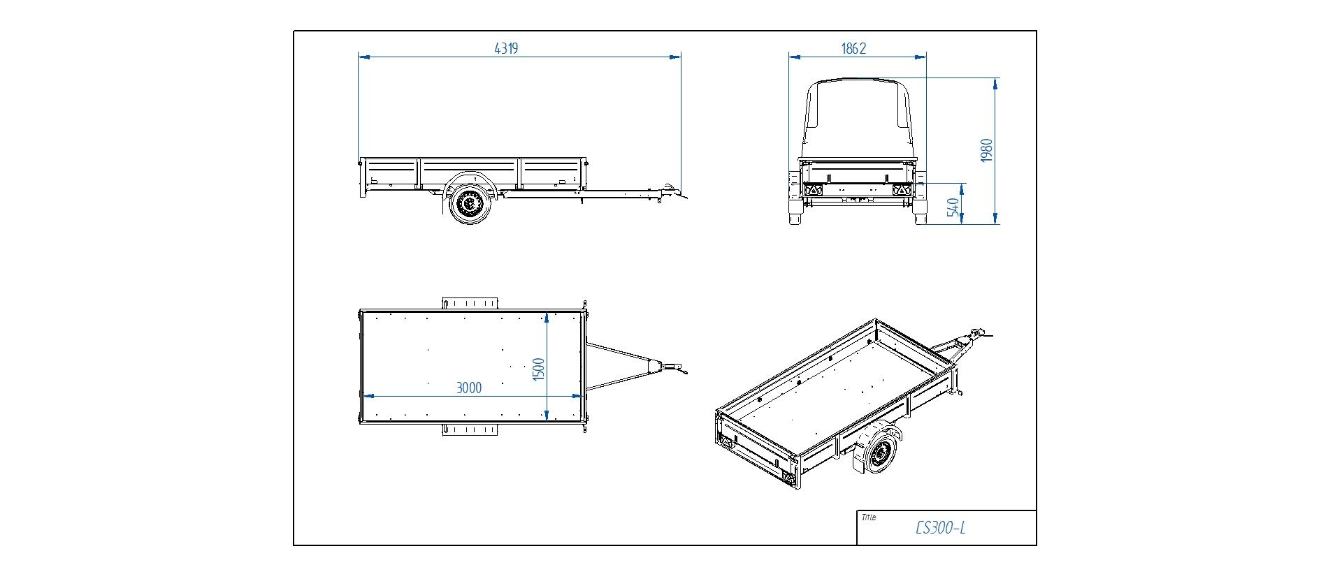 CS300-L [Priekabų standartinė įranga gali skirtis nuo pavaizduotos komplektacijos paveiksliuke]
