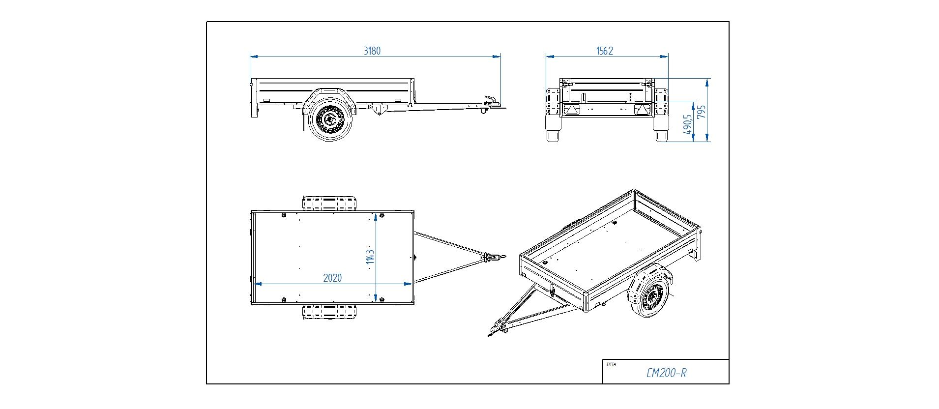 CM200-R [Priekabų standartinė įranga gali skirtis nuo pavaizduotos komplektacijos paveiksliuke]