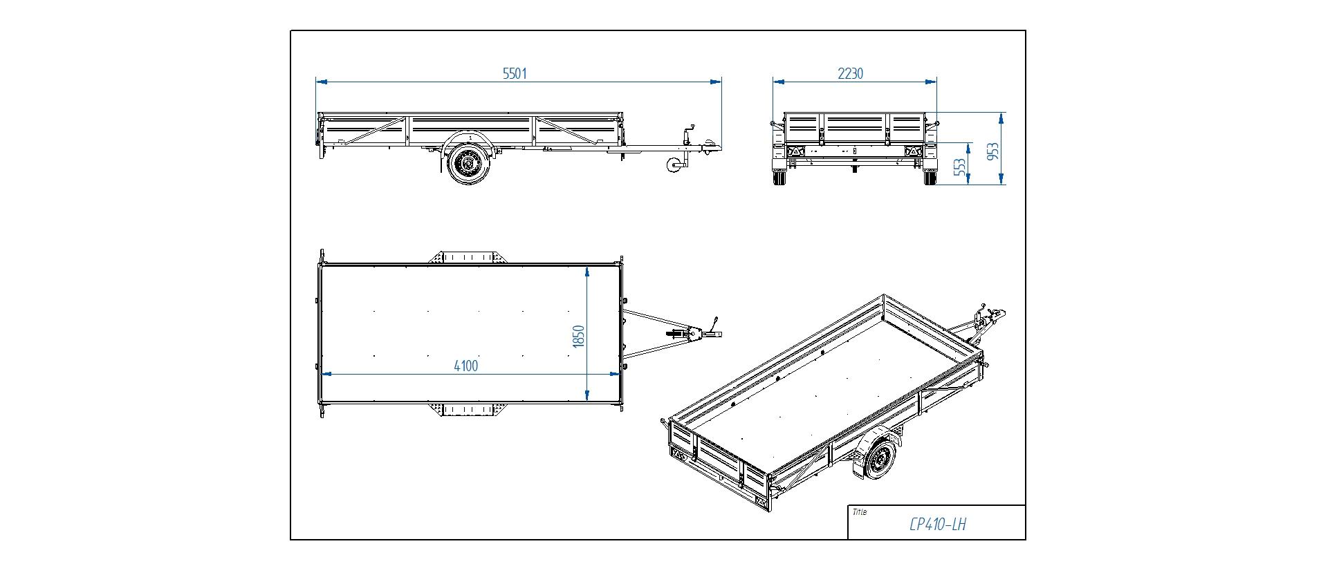 CP410-LH [Priekabų standartinė įranga gali skirtis nuo pavaizduotos komplektacijos paveiksliuke]