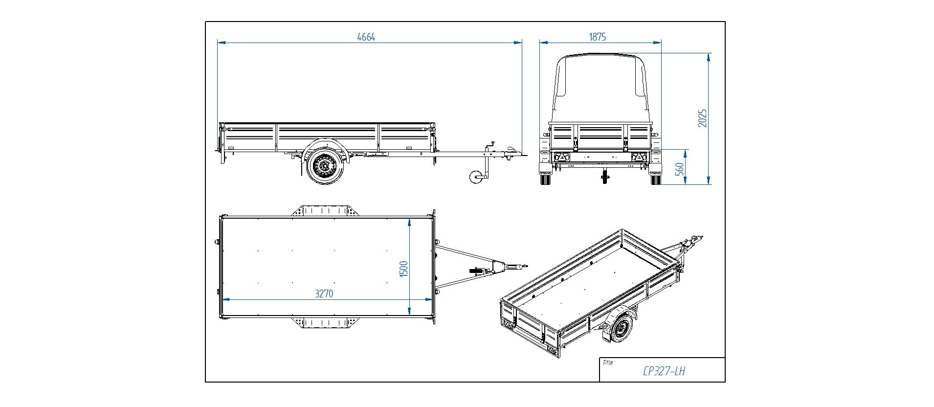 CP327-LH PRO  [Priekabų standartinė įranga gali skirtis nuo pavaizduotos komplektacijos paveiksliuke]